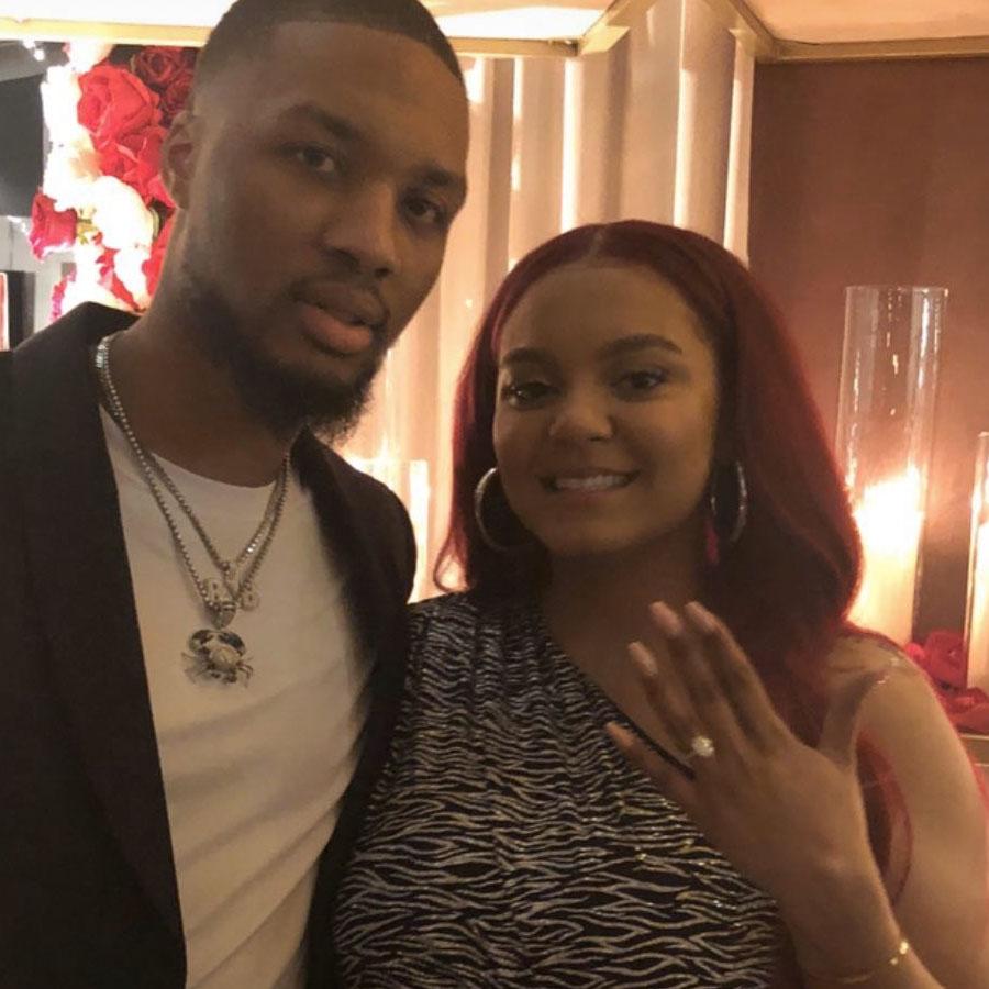 Kay  La and Damian Lilliard Get Engaged