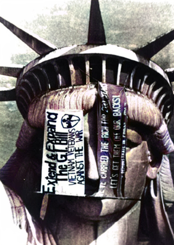 Statue of Liberty Anti War Protest Banners 1