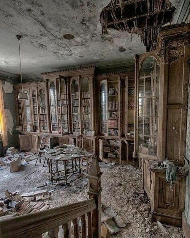 19th century mansion library