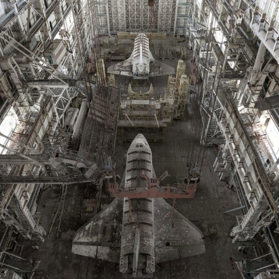 30 years old abandoned Russian space shuttles