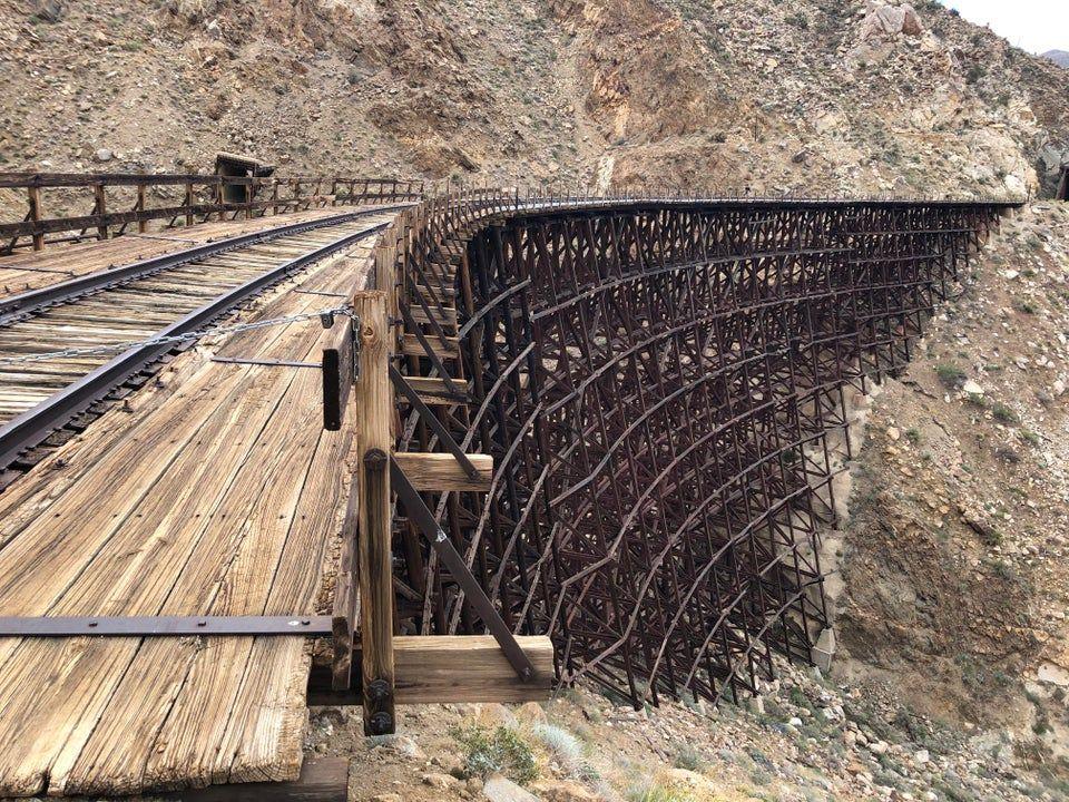Abandoned train bridge in California