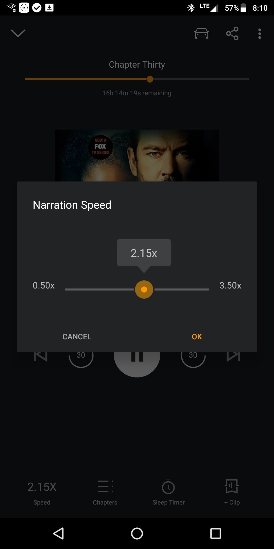 Audible Narration Speed