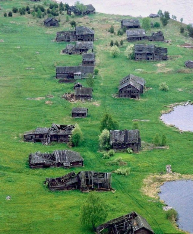 Ghost town in Russia
