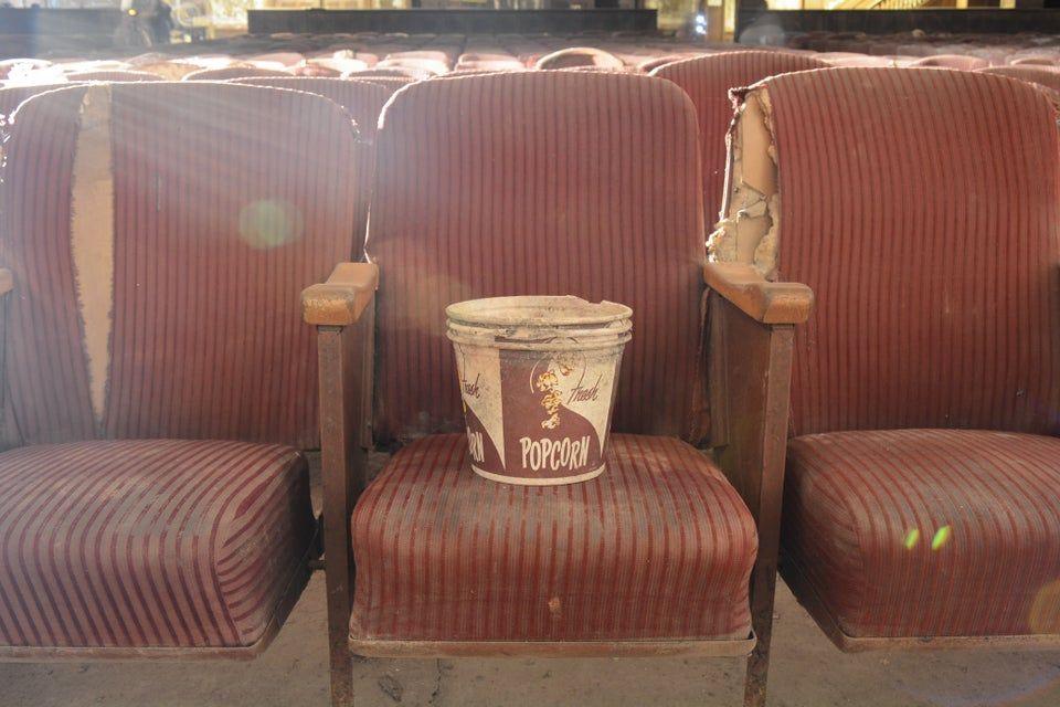 Last Popcorn left in a theater