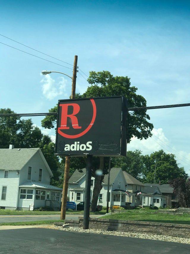 Last Radio Shark Sign