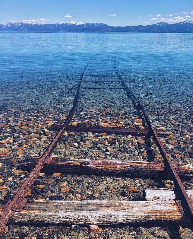 Lost tracks in Lake Tahoe