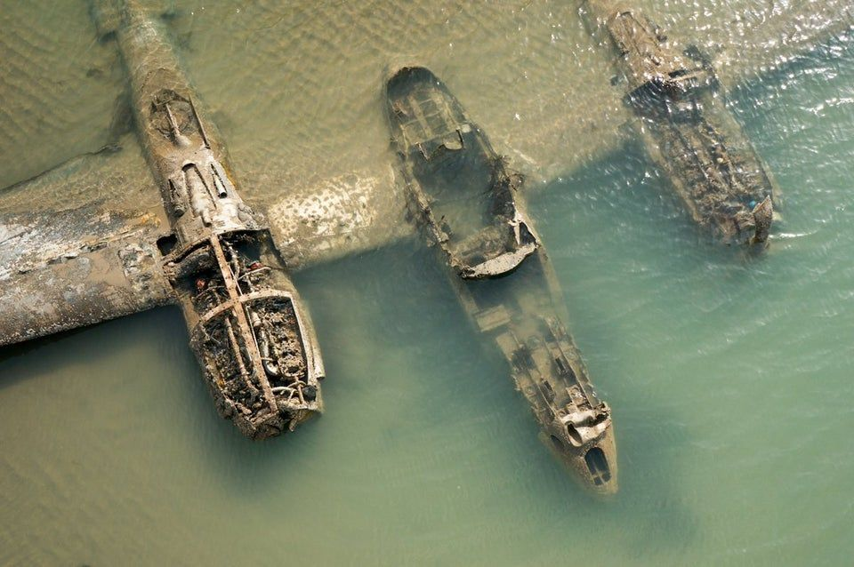 P 38 Lightning wreckage in UK
