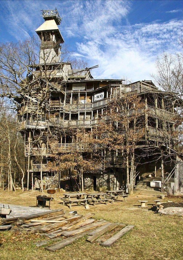 Swiss treehouse Abandoned