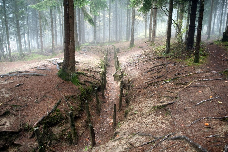 WWI trench in France