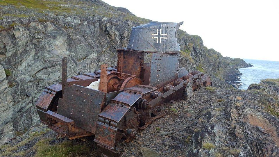 abandoned German tank
