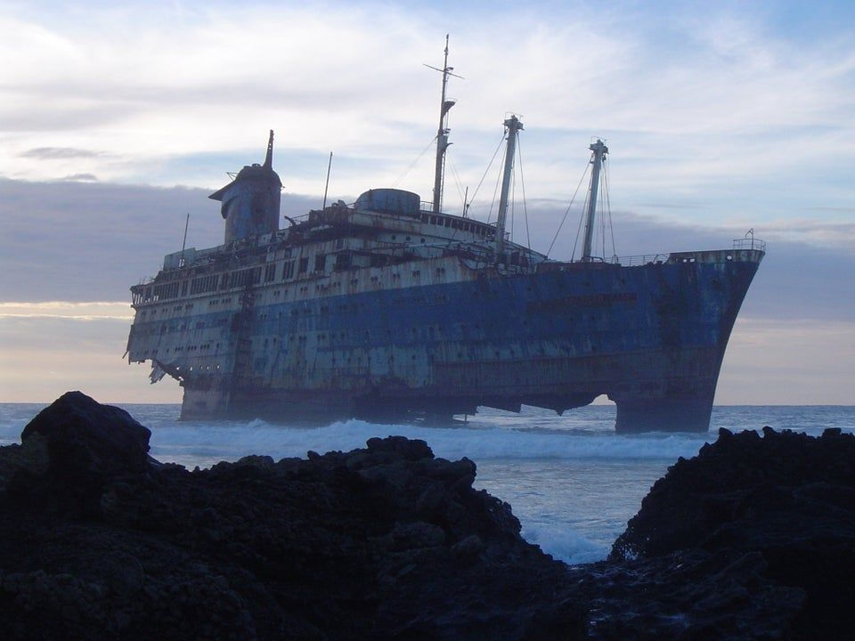 ocean liner in the Canary Islands
