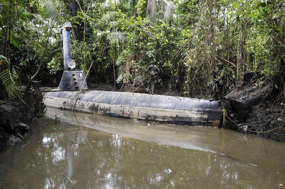 submarine in jungle